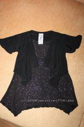 Туника, блузка нарядная Palomino с блестками в отличном состоянии