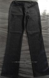 брюки для беременных темно-серого почти черного цвета