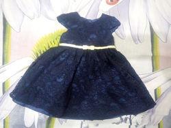 Платье темно синее  на рост 68-74