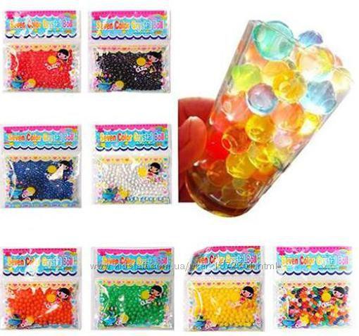 50 пакетів 100 кульок 12-14 мм Orbeez, гідрогель Орбіз