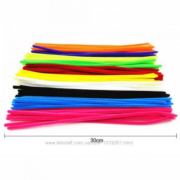 Пухнасті кольорові палички для творчості 15 штук