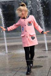 Теплый кардиган для девочки на  7-9 лет, Турция, розовый, с начесом