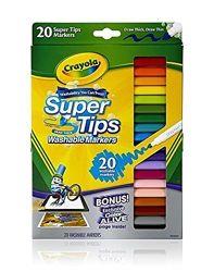 Фломастеры Crayola Крайола 20 шт. смывающиеся