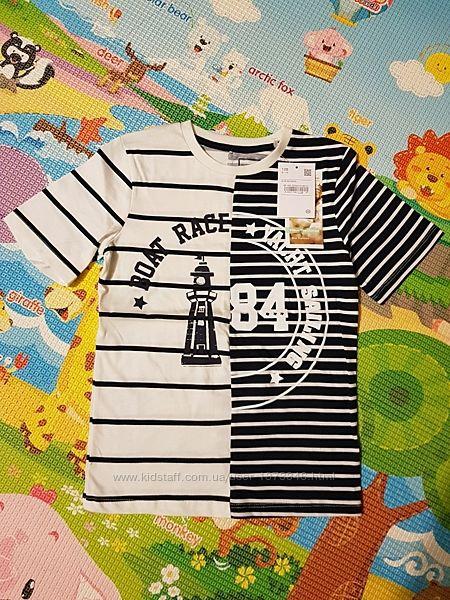 Стильная футболка СА на мальчика, размер 128, 5-7 лет