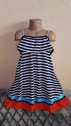 Платье сарафан летний 100 хлопок для девочки 7 лет, рост 122см от tu