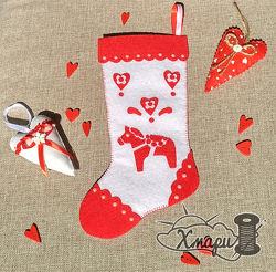 Рождественский декор - сапожок или носочек