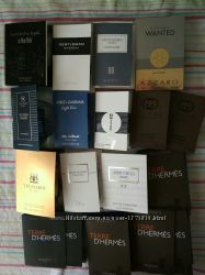 Пробнички мужские в ассортименте, приятные ароматы от известных брендов