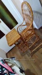 стульчик из лозы