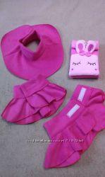 Детские теплые флиcовые манишки серые и розовые вместо шарфа в наличии