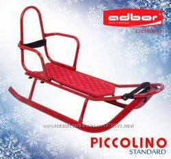 Санки PICCOLINO со спинкой Adbor Польша, красный