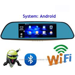 Зеркало видеорегистратор DVR A6 - 3G 7 2 камеры GPS WiFI 8Gb Android 5