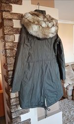 Американская модная женская парка куртка Laundry. Оригинал. С капюшоном.