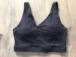 Спортивный топ женский mpg черный на спине с розовой вставкой