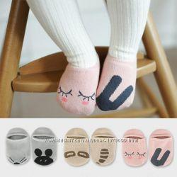 Детские пинетки тапочки моксы носочки антискользящие носки пінетки