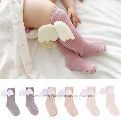 Гольфы детские с крыльями ангела, носочки с крылышками, носки ангелы