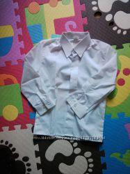 Рубашка, сорочка для хлопчика, біла з довгим рукавом