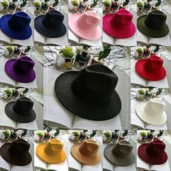 Шляпа женская фетровая Федора с устойчивыми полями