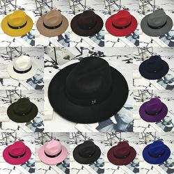 Шляпа женская Федора с лентой в стиле Maison Michel и устойчивыми полями