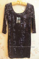 Платье бархатное в идеале, размер 44-46, 12 UK