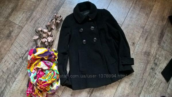 Короткое стильное черное шерстяное пальто от ZARA-S-ка
