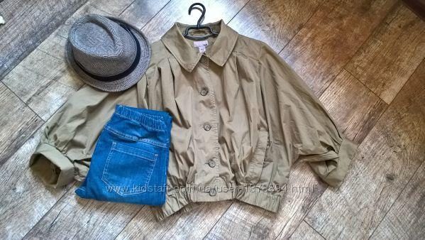 Мега трендовая объемная куртка-ветровкалетняя накидкаот H&MхакиM