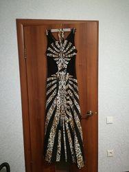 Шикарное  длинное платье на корпоратив, новогоднее платье