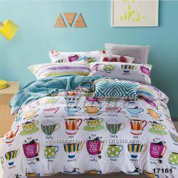 Подростковое полуторное постельное белье Viluta ранфорс 17161 чашечки