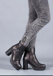 Ботинки кожаные, 37 р.