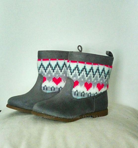 Ботинки сапожки Gymboree для девочки 24 размер оригинал