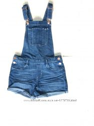 комбинезон джинсовый женский для девочки с шортами комбез летний стильный