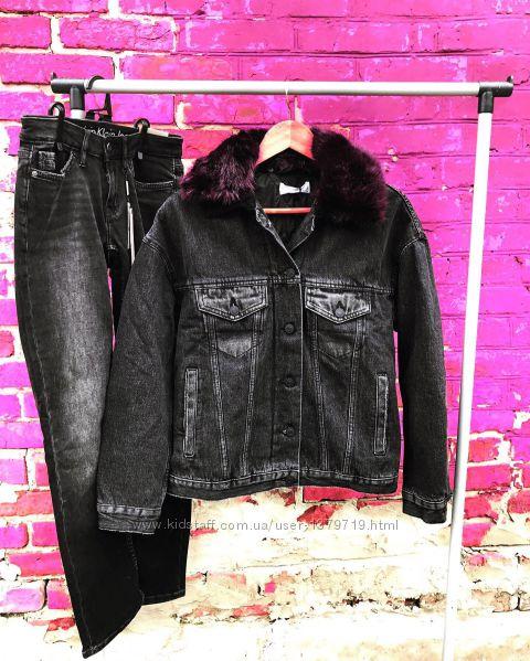 Куртка бомбер джинсовая Mango женская чёрная демисезонная осенняя