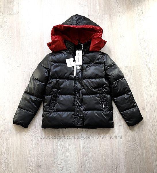 Куртка Kendall and Kylie оригинал чёрная стильная женская красная