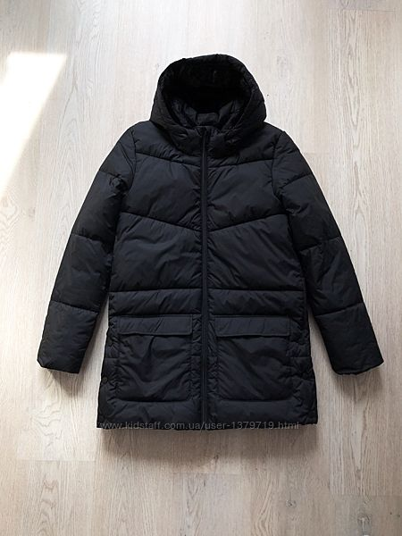 Пальто HM женское чёрное куртка стильная дутая новая