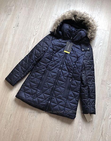 Куртка стеганая andrew marc new york фирменная женская стильная пальто