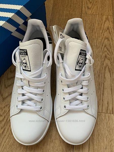 Белые кеды adidas stan smith оригинал натуральная кожа
