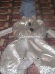 Очень красивый костюм снеговичка р110-116р, состояние нового