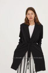 Пальто с галстучным поясом h&m