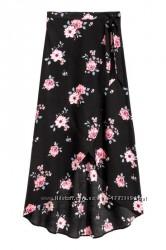 Длинная юбка на запахе h&m