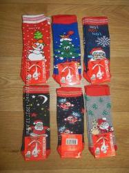 Детские новогодние носки от 0 до 14 лет