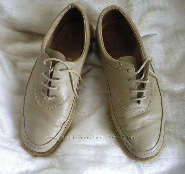 Туфли мокасины слипоны бежевые мужские р. 44