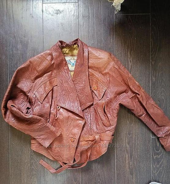 Куртка косуха golden eagle терракот рыжая кожа р.46 - р.50