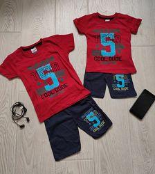 Летний костюм для мальчика шорты футболка. Размеры от 2 до 6 лет. Турция