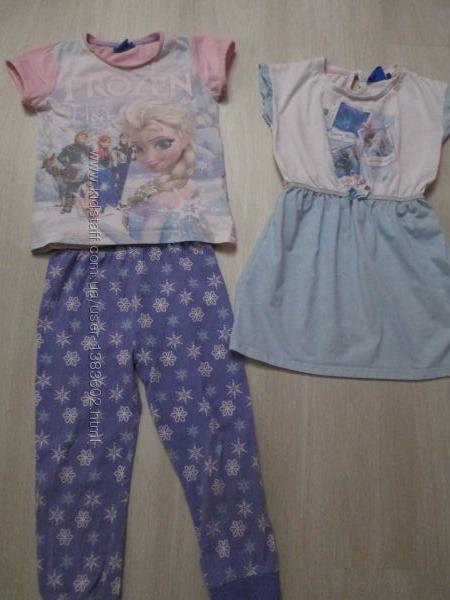 Пижама, ночнушка с принцессами Анна, Эльза на 5 - 7 лет