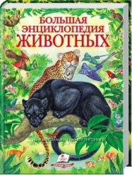 Большая энциклопедия животных Пегас большой формат 224стр. на подарок