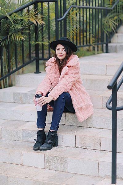 Хитовое зефирное пальто полупальто тедди Plus size Teddy Bear Coat Rainbow.