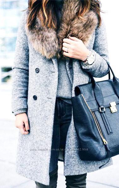 Винтажное зимнее пальто с натуральной опушкой в стиле ретро Giorgio.