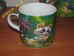 Чашка  детская, фарфоровая  Крошка Енот