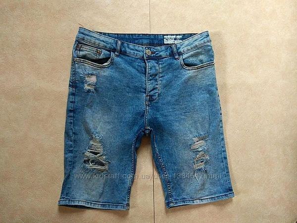Мужские джинсовые шорты бриджи Denim co, 34 размер.