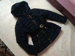 Стильная черная теплая куртка Garoff, 12-14 размер.