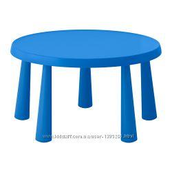ikea MAMMUT Детский стол Мамут икеа синий